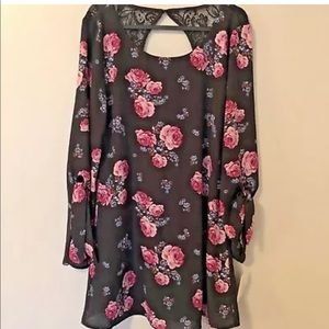 SPEECHLESS Womens Dress Open Back Floral Lace NWT
